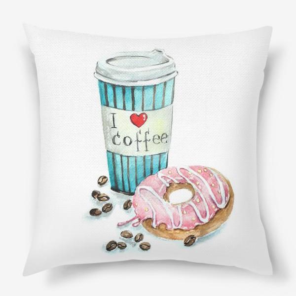 Подушка «i love coffee»