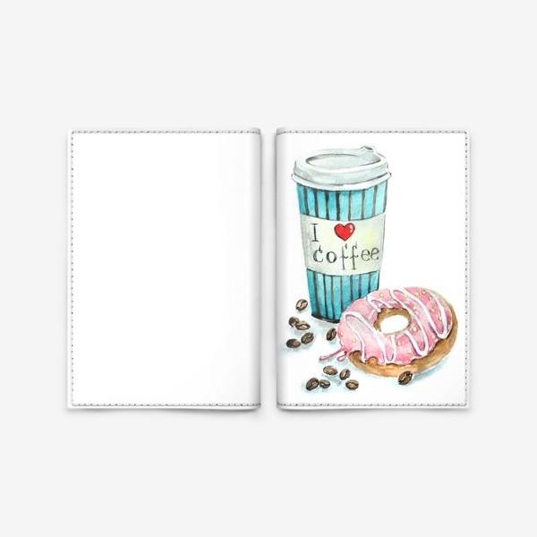 Обложка для паспорта «i love coffee»