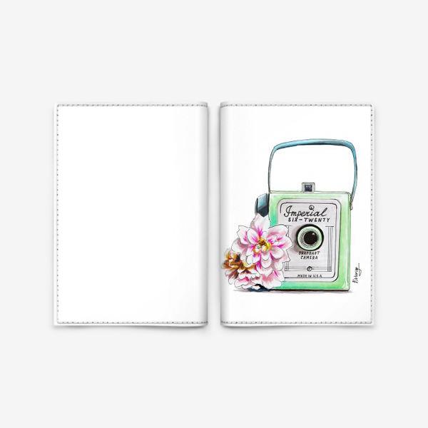 Обложка для паспорта «Винтажная камера»