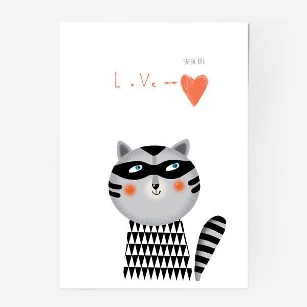 Постер «Енот»