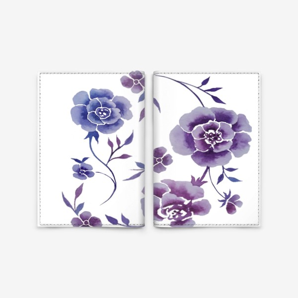 Обложка для паспорта «Акварельные веточки с цветами»