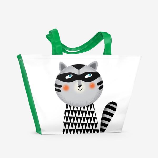 Пляжная сумка «Енот»