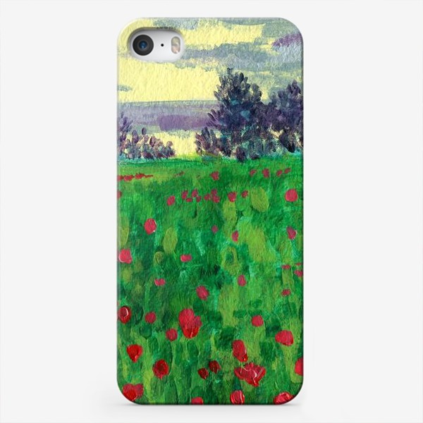 Чехол iPhone «Поле маков»