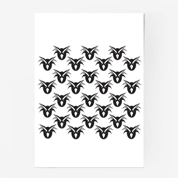 Постер «Хохлатые смешные пингвины»