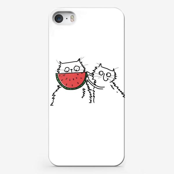 Чехол iPhone «Коты. Улыбка-арбуз»