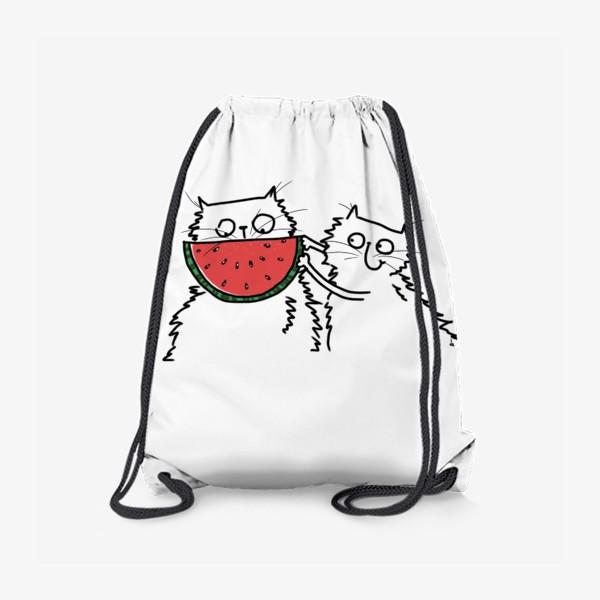 Рюкзак «Коты. Улыбка-арбуз»
