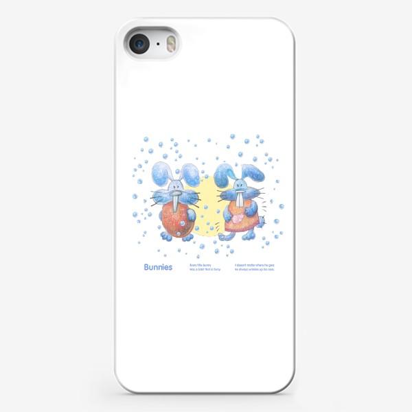 Чехол iPhone «Милые смешные кролики»