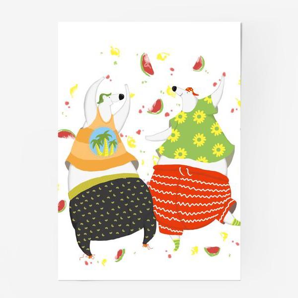 Постер «мишки танцуют»