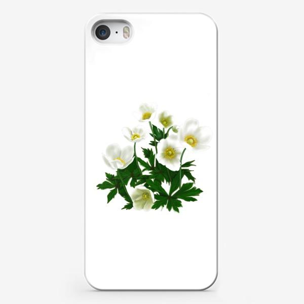 Чехол iPhone «Цветы белые »
