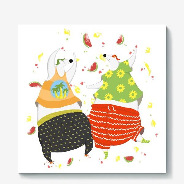Холст «мишки танцуют»