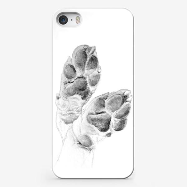 Чехол iPhone «Милые лапки собаки»