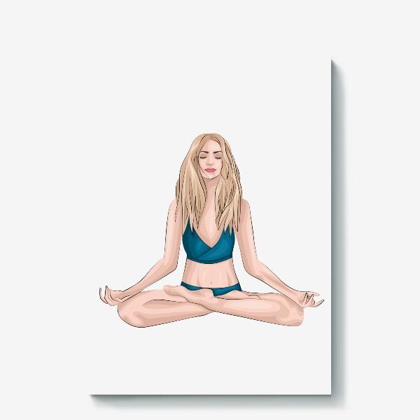 Холст «Девушка, йога»