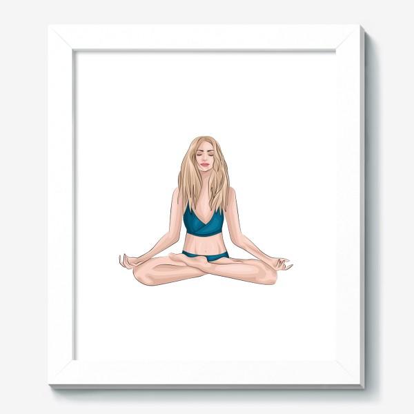 Картина «Девушка, йога»