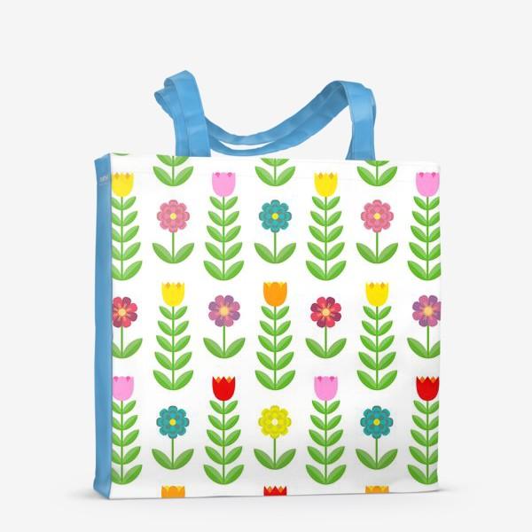 Сумка-шоппер «Цветочный узор»