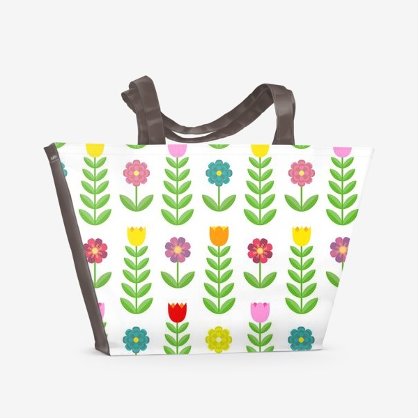 Пляжная сумка «Цветочный узор»