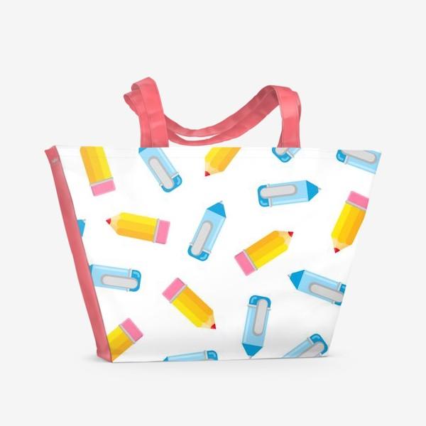 Пляжная сумка «Карандаши и ручки»