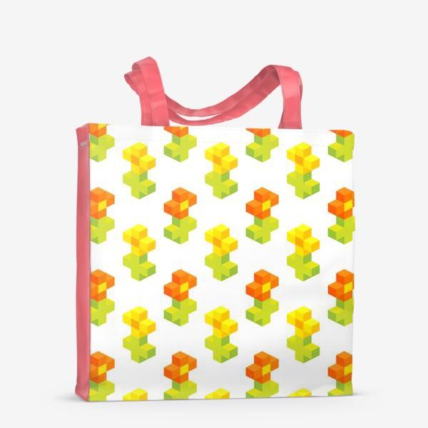 Сумка-шоппер «Цветочки. Пиксель-арт.»