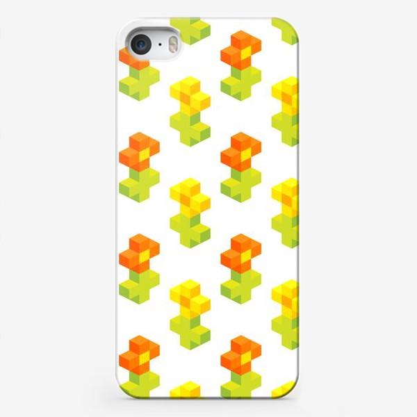 Чехол iPhone «Цветочки. Пиксель-арт.»