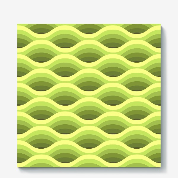 Холст «Зеленые волны»