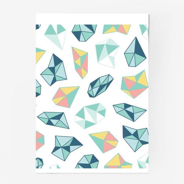 Постер «Цветные кристаллы»