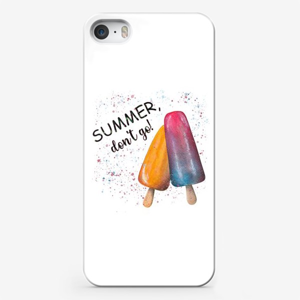 Чехол iPhone «Summer. Лето. Мороженое»