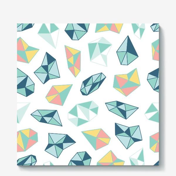 Холст «Цветные кристаллы»