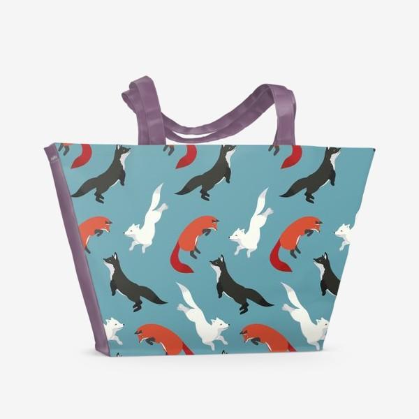 Пляжная сумка «Лисички-сестрички»
