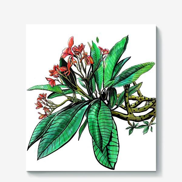Холст «Красные Орхидеи. Шикарные цветы орхидеи»