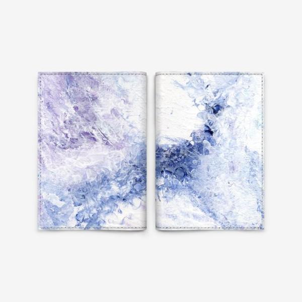 Обложка для паспорта «Синяя нежность»