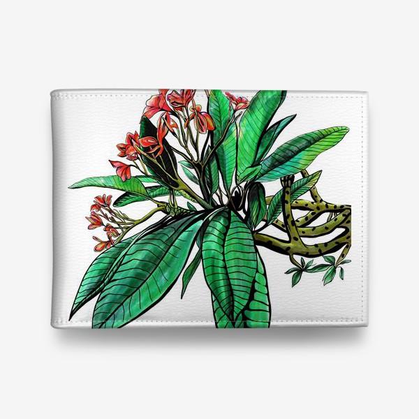 Кошелек «Красные Орхидеи. Шикарные цветы орхидеи»