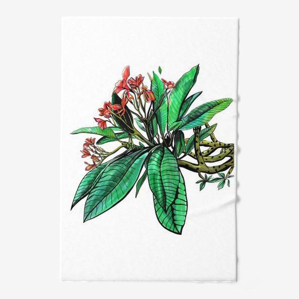 Полотенце «Красные Орхидеи. Шикарные цветы орхидеи»