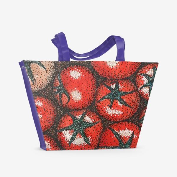 Пляжная сумка «Помидорки»