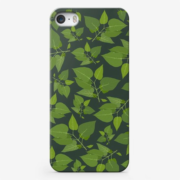 Чехол iPhone «Зеленое на зеленом »