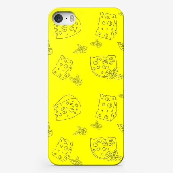 Чехол iPhone «Кусочки сыра »