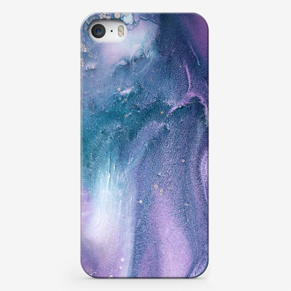 Чехол iPhone «абстракция фиолетово зеленая, фон, текстура»