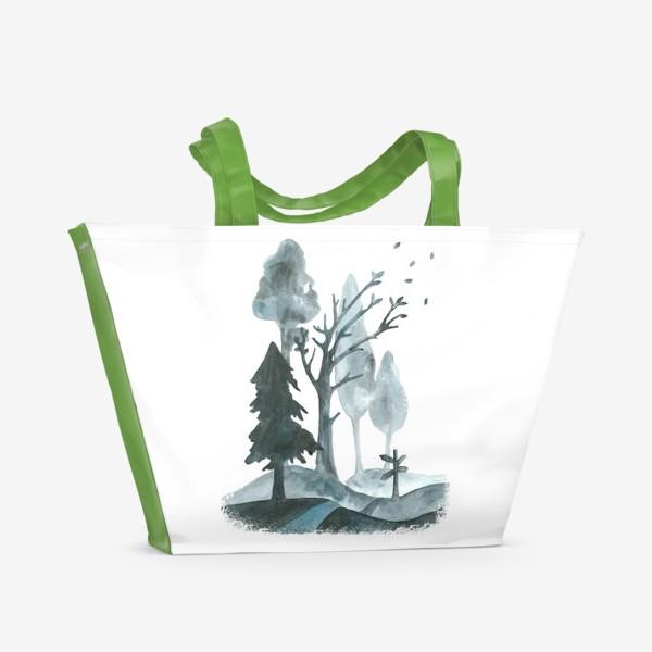Пляжная сумка «Дорогами осени»