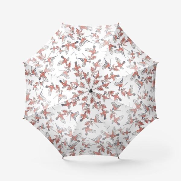 Зонт «Стая снегигей »