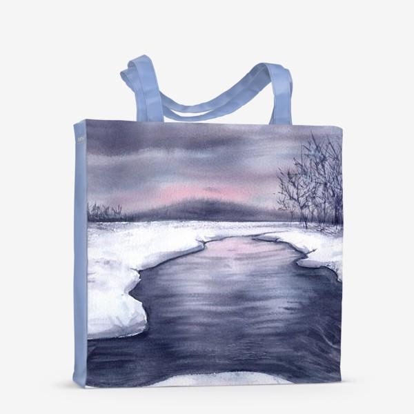 Сумка-шоппер «Зимний пейзаж»