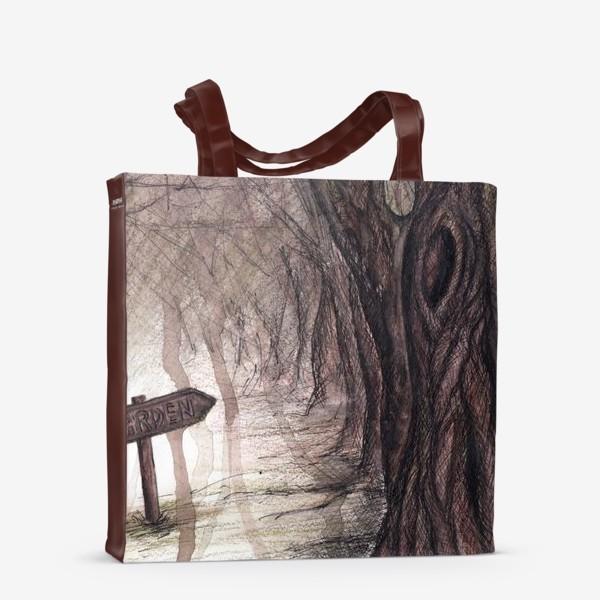 Сумка-шоппер «Таинственный сад»