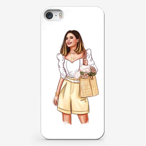 Чехол iPhone «Девушка с корзиной»