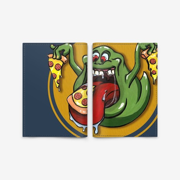 Обложка для паспорта «Лизун и пицца»