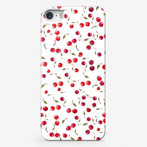 Чехол iPhone «Вишневый паттерн»