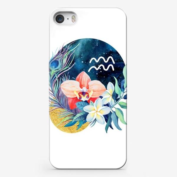 Чехол iPhone «Подарок для ВОДОЛЕЯ Тропические цветы»