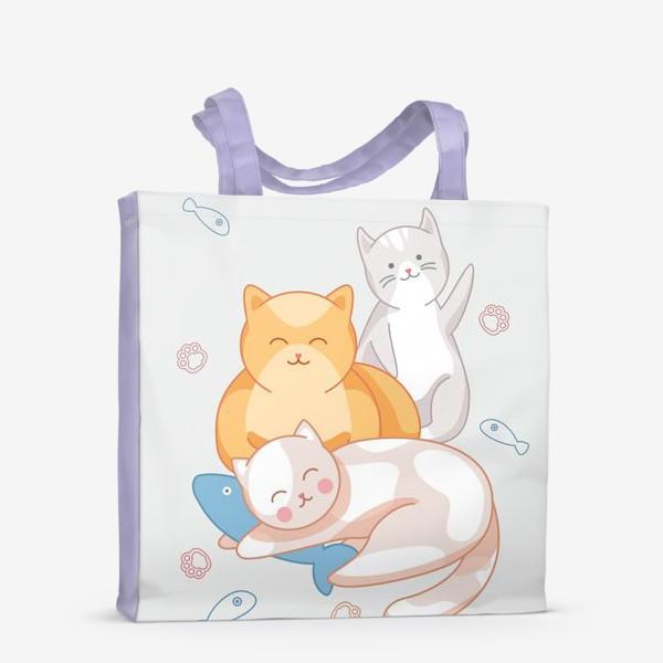 Сумка-шоппер «Милые коты»
