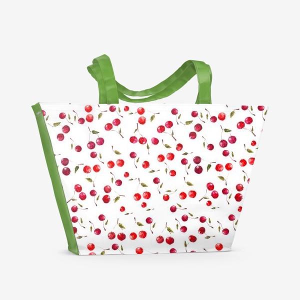 Пляжная сумка «Вишневый паттерн»