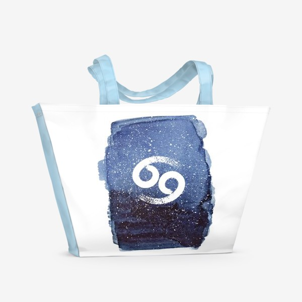 Пляжная сумка «Рак. Акварельный космос»