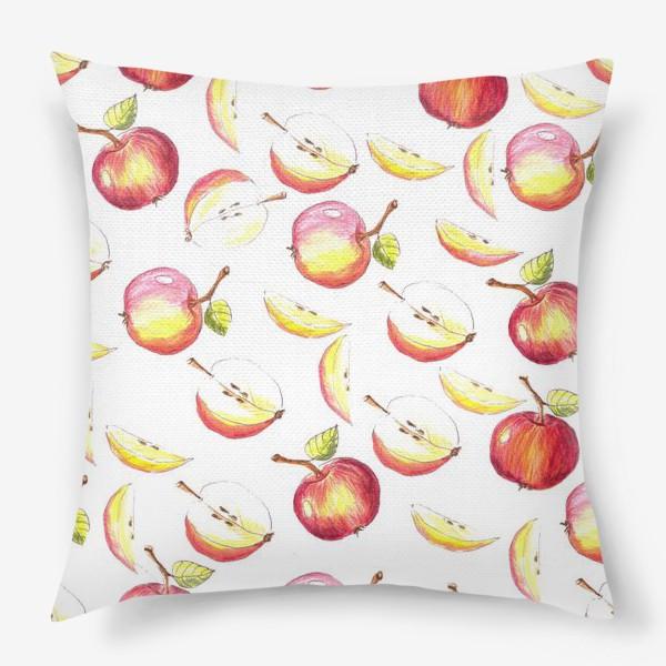 Подушка «Яблочный паттерн»