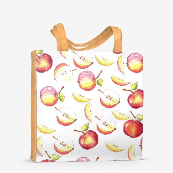 Сумка-шоппер «Яблочный паттерн»