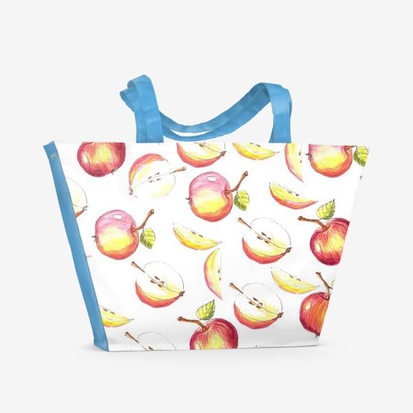 Пляжная сумка «Яблочный паттерн»