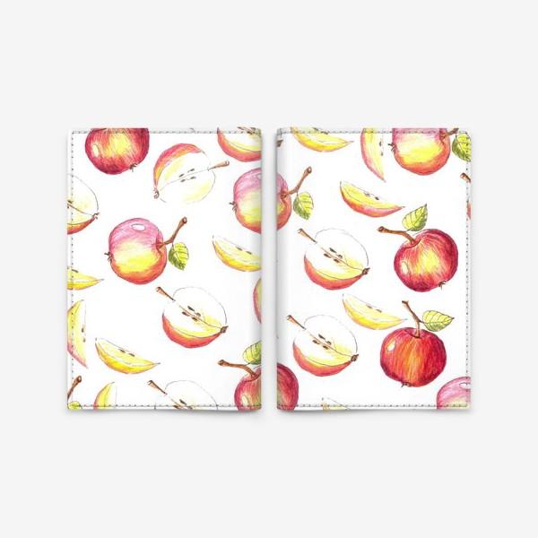 Обложка для паспорта «Яблочный паттерн»